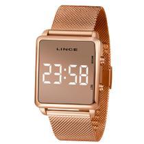 Relógio Feminino Lince Digital LED Rose MDR4619L-BXRX Original -