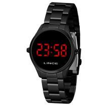Relógio Feminino Lince Digital Led Vermelho Preto MDN4618L-VXPX -