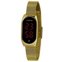 Relógio Feminino Lince Dourado Led Digital LDG4641L PXKX -
