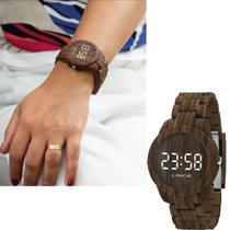 Relógio Feminino Lince Led Marrom Original MDP4614P BXNX -