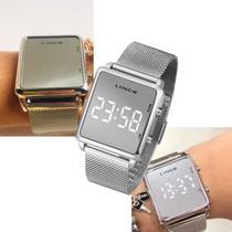 Relógio Feminino Lince Led Prateado Original MDM4619L BXSX -
