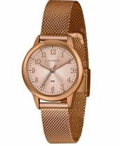 Relógio Feminino Lince redondo Pulseira Milanese Rose LRR4653L R2RX -