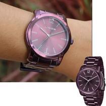 Relógio Feminino Lince Roxo Grande Original LRV4449L U2UX -