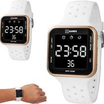 Relógio Feminino Masculino  X games Digital Quadrado Branco com Rosê XGPPD094 PXBX -
