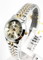 Relógio Feminino Mini Prata com Dourado Backer 10214134F SI -