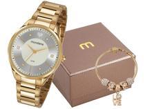 Relógio Feminino Mondaine Analógico - 53650LPMVDE1K1 Dourado com Acessórios