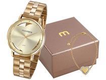 Relógio Feminino Mondaine Analógico - 53748LPMKDE1K1 Dourado com Acessórios
