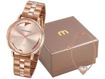 Relógio Feminino Mondaine Analógico - 53748LPMKRE2K1 Rosê Gold com Acessórios
