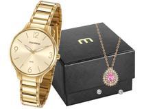 Relógio Feminino Mondaine Analógico - 53778LPMVDE2K2 Dourado com Acessórios