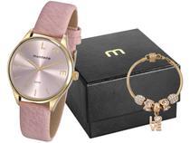 Relógio Feminino Mondaine Analógico - 76743LPMVDH1K1 Rosa com Acessórios