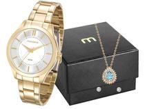 Relógio Feminino Mondaine Analógico - 99231LPMVDE1K1 Dourado com Acessórios