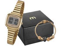 Relógio Feminino Mondaine Digital - 53717LPMVDE1K2 Dourado com Pulseira