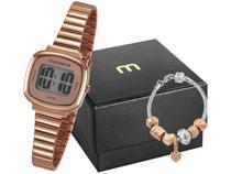Relógio Feminino Mondaine Digital - 53717LPMVRE2K1 Rosê Gold com Acessório