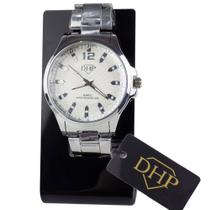 Relógio Feminino Prata DHP Prova D' Água -