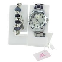 Relógio feminino quartz Orizom + pulseira pandora - Orizom Technologies