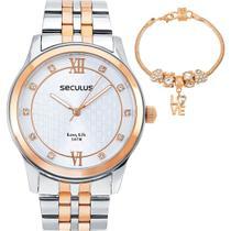 Relógio Feminino Seculus 35025LPSVGA2 Kit -