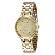 Relógio Feminino Seculus Aço Dourado um23518LPSVDA1 Analógico -