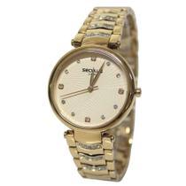 Relógio Feminino Seculus Analógico 13031LPSVRB3 - Dourado -
