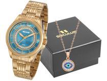 Relógio Feminino Seculus Analógico  - 20601LPSVDS1K1 Dourado com Acessório