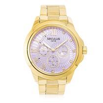 Relógio Feminino Seculus Analógico 28829LPSVDS7 Fundo Rosa -