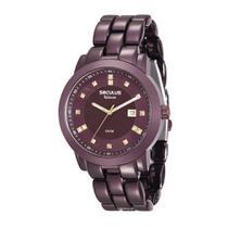 Relógio Feminino Seculus Analógico com calendário 20422LPSVFA5 -