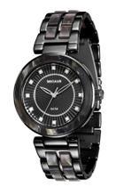 Relógio feminino seculus black com madrepérola 20410lpsvpf6 -