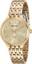 Relógio feminino seculus dourado analógico 20464LPSVDA1 -