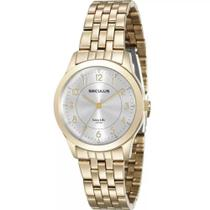Relógio feminino seculus dourado analógico 20490LPSVDA1 -