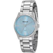 Relógio feminino seculus prateado analógico 20462L0SVNA1 -