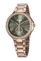 Relógio Feminino Seculus Rose Com Cristais 48086Lpsvrs4 -