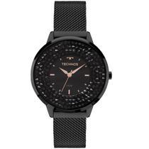 247ce518274 Relógio Feminino Technos 2035MLF 1P 38mm Aço Preto