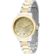 8caf757ba1c Relógio Feminino Technos 2115KOG 5X 32mm Aço Dourado e Prata