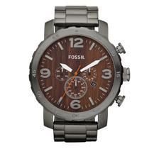 Relógio Fossil Masculino Aço Fume Fjr1355/Z - Grafite -