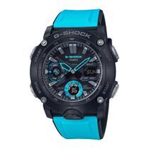 Relógio G-Shock Carbon Core Guard GA-2000-1A2DR Masculino Preto/Azul -