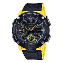 Relógio G-Shock Carbon Core Guard GA-2000-1A9DR Masculino Preto/Amarelo -
