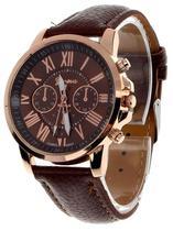 Relógio Geneva 2465 Pulseira de Couro - Diversas cores -