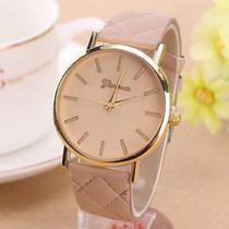 Relógio Geneva 2488 Pulseira de Couro - Diversas cores -