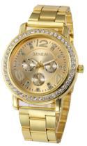Relógio Geneva 2626 Dourado, Prata ou Rosê - Diversas cores -