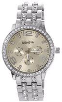 Relógio Geneva 2812 Dourado, Prata ou Rosê - Diversas cores -