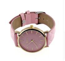 Relógio geneva adulto cor rosa -