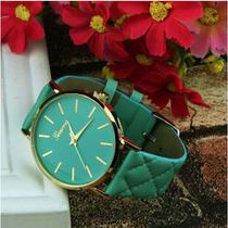 Relógio geneva adulto cor verde -