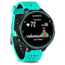 Relógio GPS Frequencímetro de Pulso Garmin Forerunner 235 Azul Gelo/Preto -