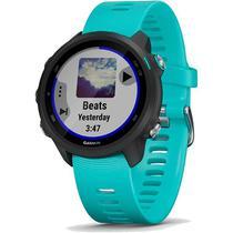 Relógio GPS Frequencímetro de Pulso Garmin Forerunner 245 Music Preto/Aqua -