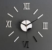 Relógio Grande de Parede tipo 3D Acrílico Autocolante Decoração da parede da Casa Sala Escritório Cozinha Quarto quartz - Diy