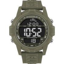 Relógio Guess Masculino Verde 92768G0GSNV3 Digital 5 Atm Cristal Mineral Tamanho Extra Grande -