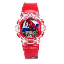 Relógio Homem Aranha Infantil Com Som Luzes Vermelho 3D - Sm