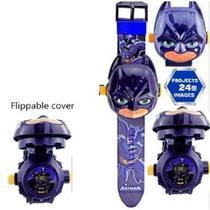 Relógio Infantil Esportivo Digital com Tampa Projetor do Batman - Rts
