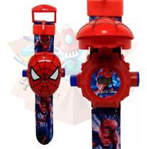 Relógio Infantil Esportivo Digital com Tampa Projetor do Homem-Aranha - RTS