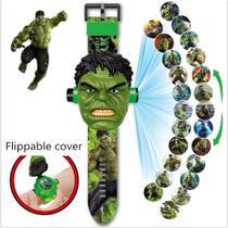 Relógio Infantil Esportivo Digital com Tampa Projetor do Hulk - RTS