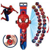 Relógio Infantil Projetor Super Heróis 3d 24 Imagens - Avengers